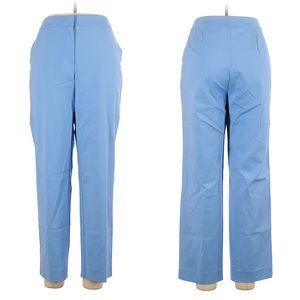 St John light blue cotton blend dress pants, 14